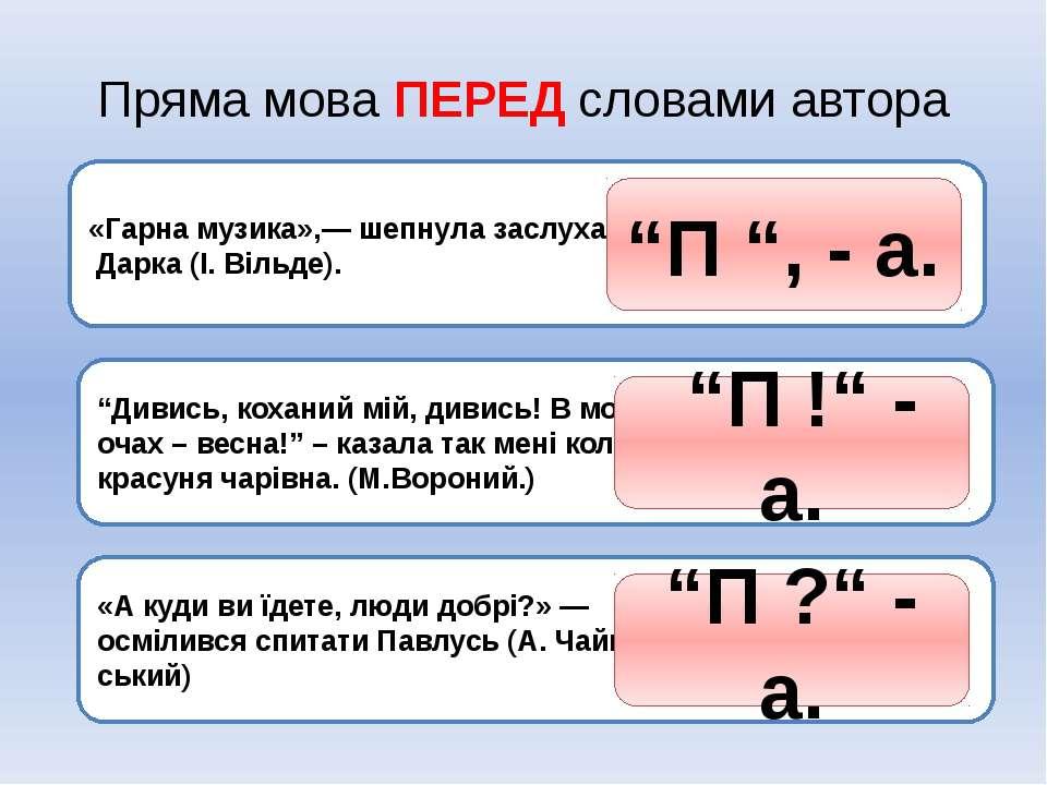 Переписати. В кожному з речень вказати пряму мову і слова автора. Пояснити вж...