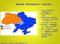 Вибори Президента України Зареєстровано 7 кандидатів; Проходили у 2 тури; Най...
