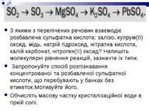 З якими з перелічених речовин взаємодіє розбавлена сульфатна кислота: залізо,...
