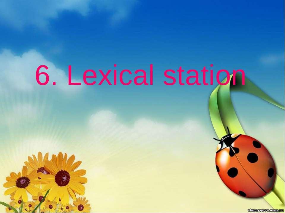 6. Lexical station