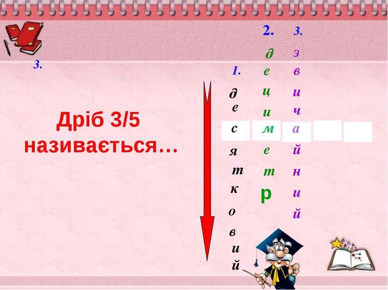 д о к т и е в я й с 2. 1. м д е ц и т е 3. 3. й в з а и ч и й н Дріб 3/5 нази...