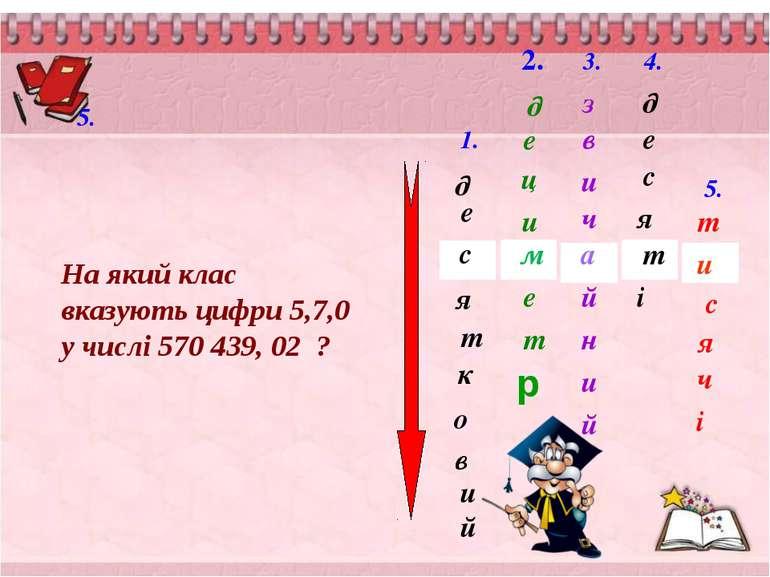 д о к т и е в я й с 2. 1. м д е ц и т е 3. й в з а и ч и й н 4. д т я с і е 5...