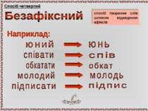 Спосіб четвертий спосіб творення слів шляхом відкидання афіксів