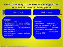 ? Стан розвитку сільського господарства України в 1953 – 1964 роках 1953 - 19...