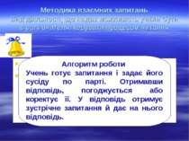 Методика взаємних запитань Вид діяльності, що надає можливість учням бути в р...