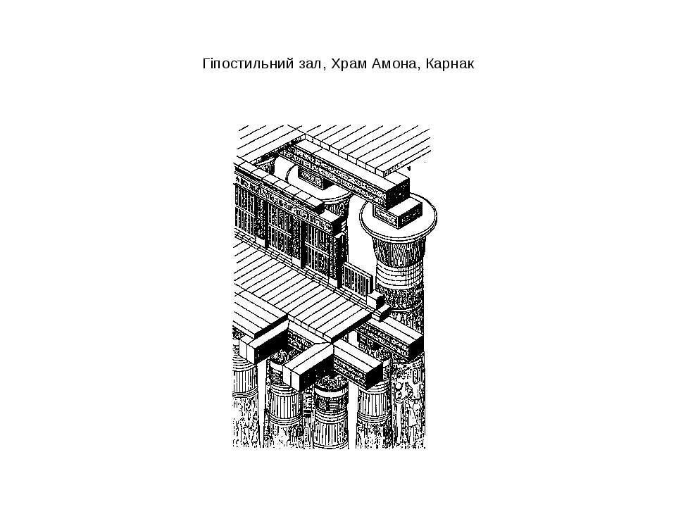 Гіпостильний зал, Храм Амона, Карнак