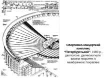 """Спортивно-концертний комплекс """"Петербургський"""", 1980 р., двопоясне, двояковог..."""