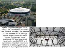 Купол стадіону Джорджіі, США, 1992 р., арх. Скот Бредлі, інж. Метіс Леві. Роз...