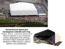Баскетбольна арена для проведення олімпійських ігор, Лондон, 2011 р., 115х110...