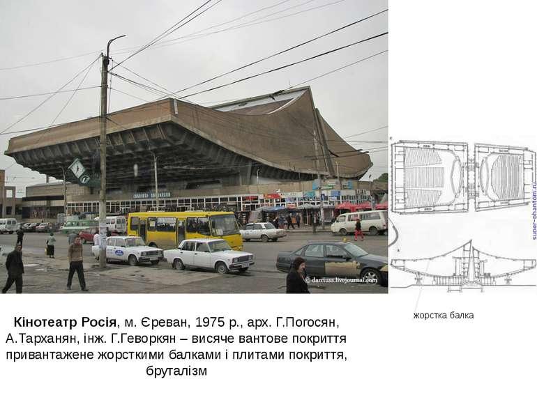 Кінотеатр Росія, м. Єреван, 1975 р., арх. Г.Погосян, А.Тарханян, інж. Г.Гевор...