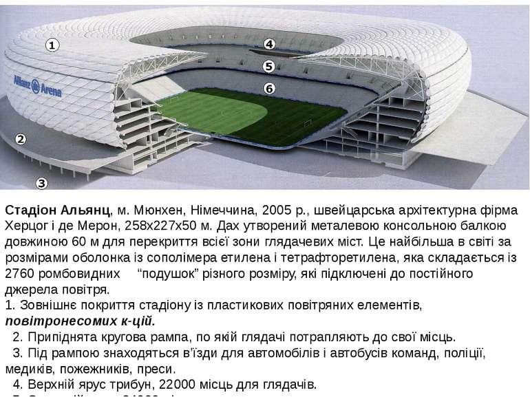 Стадіон Альянц, м. Мюнхен, Німеччина, 2005 р., швейцарська архітектурна фірма...