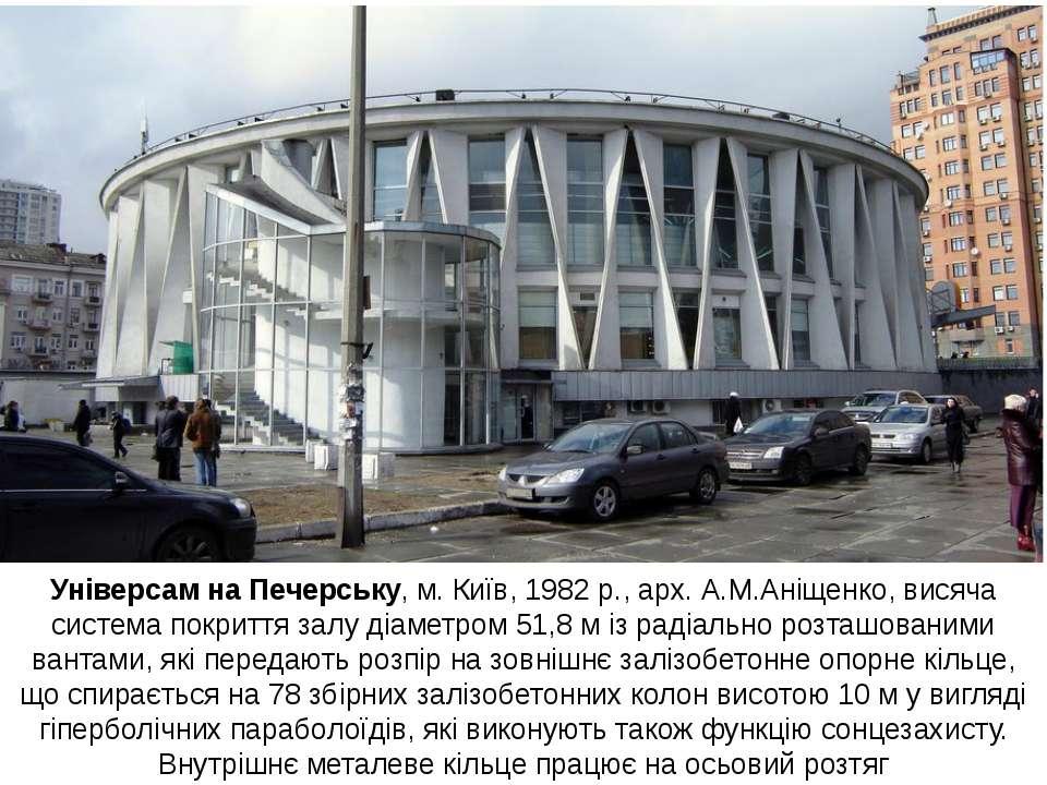 Універсам на Печерську, м. Київ, 1982 р., арх. А.М.Аніщенко, висяча система п...