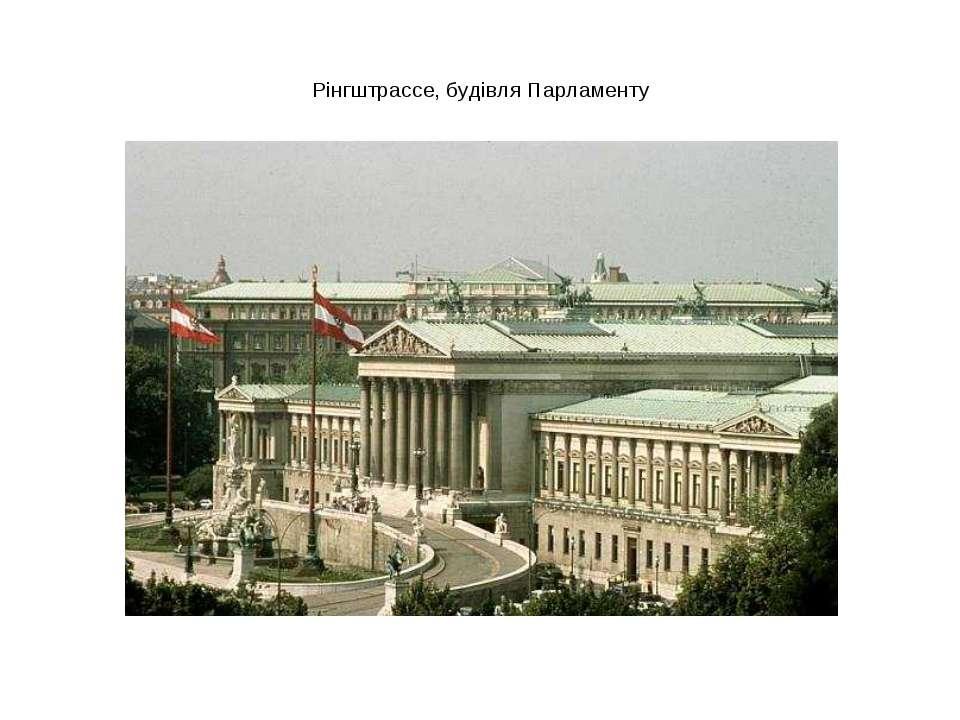Рінгштрассе, будівля Парламенту