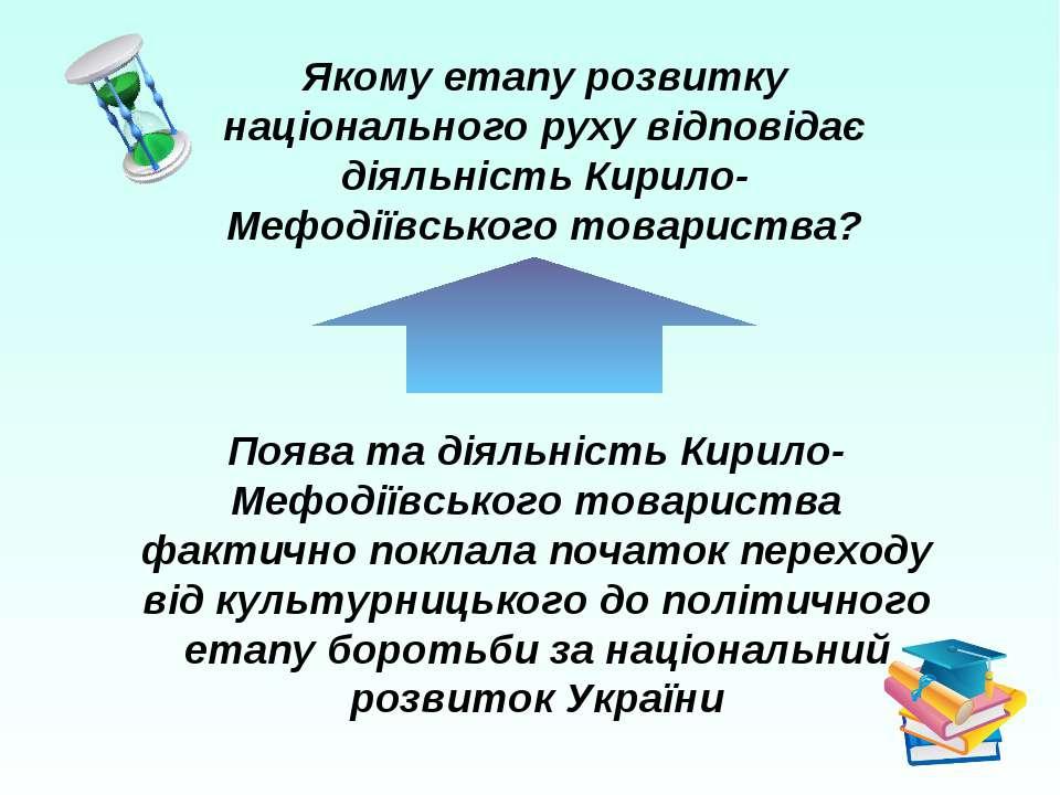 Поява та діяльність Кирило-Мефодіївського товариства фактично поклала початок...