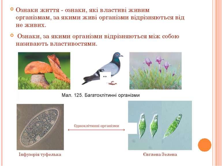Ознаки життя - ознаки, які властиві живим організмам, за якими живі організми...