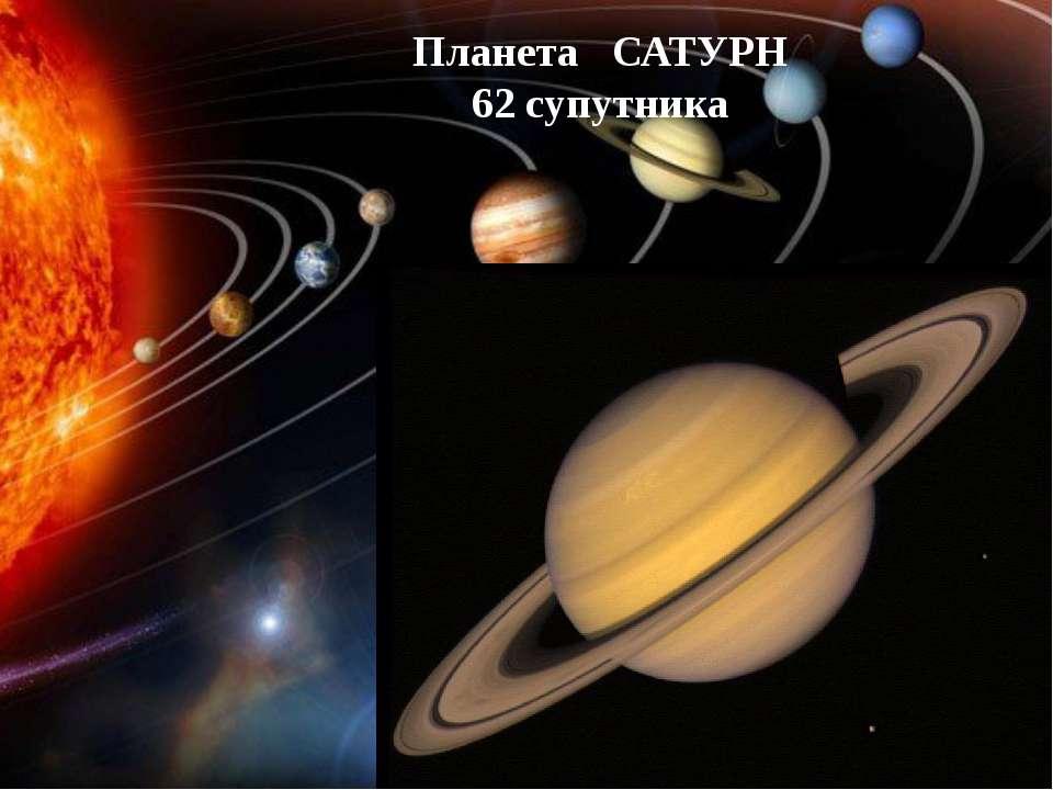 Планета САТУРН 62 супутника