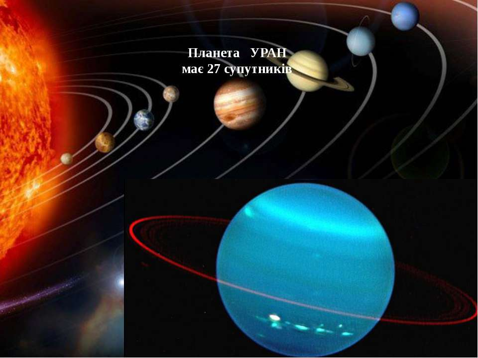 Планета УРАН має 27 супутників