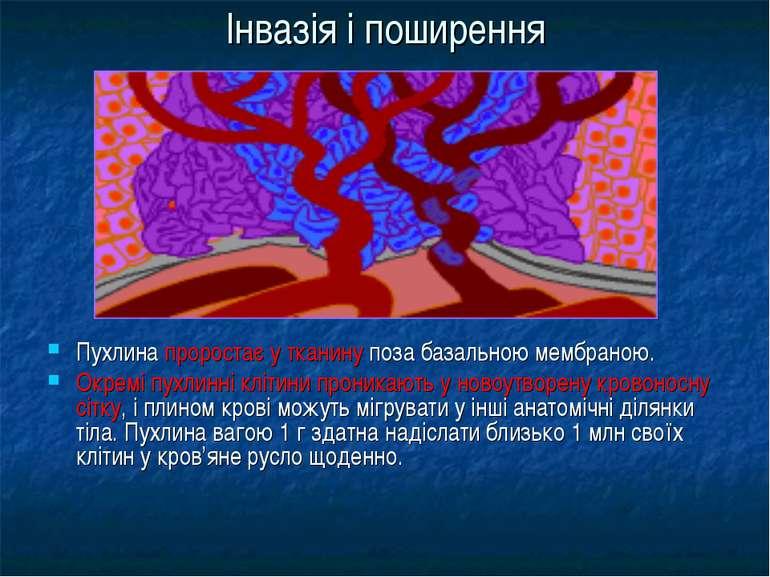 Інвазія і поширення Пухлина проростає у тканину поза базальною мембраною. Окр...