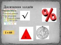 Досягнення халдеїв S 1 = 60