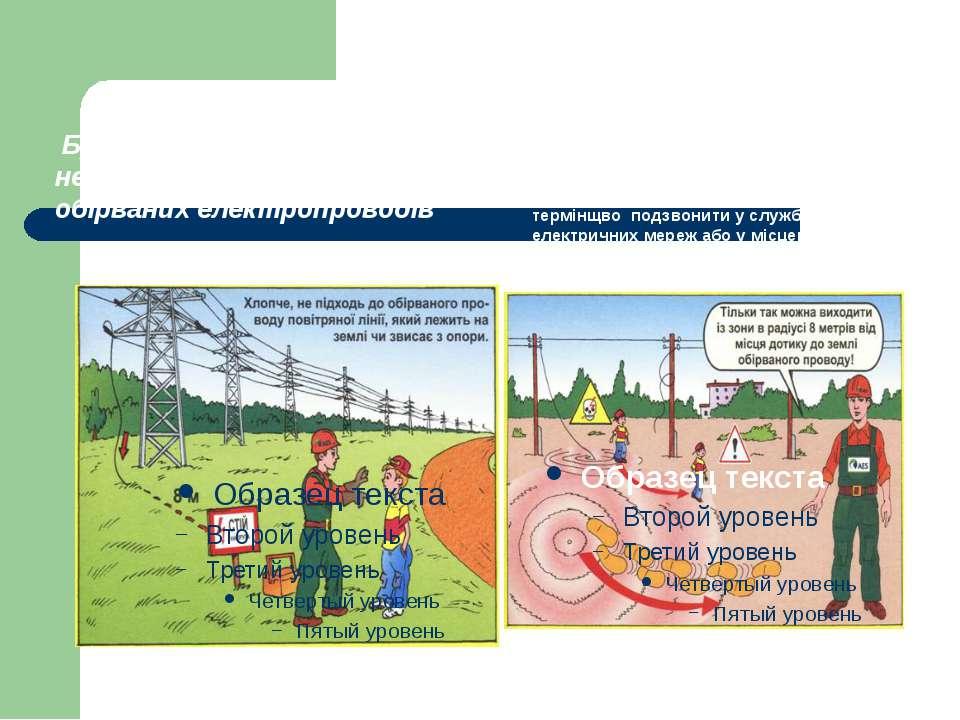 Запам'ятай Будьте обережні ненаближайтесь до обірваних електропроводів необхі...