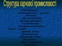 Хлібопекарська Борошномельна – круп'яна Молочна Маслосироробна Молочноконсерв...