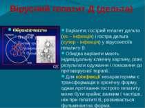Вірусний гепатит Д (дельта) Варіанти: гострий гепатит дельта (ко – інфекція) ...
