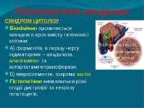 Патогенетичні синдроми СИНДРОМ ЦИТОЛІЗУ : Біохімічно проявляється виходом в к...