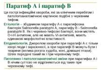 Паратиф А і паратиф В Це гострі інфекційні хвороби, які за клінічним перебіго...