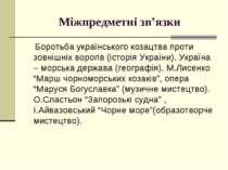 Міжпредметні зв'язки Боротьба українського козацтва проти зовнішніх ворогів (...