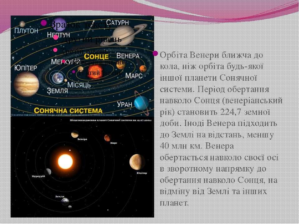Орбіта Венери ближча до кола, ніж орбіта будь-якої іншої планети Сонячної сис...
