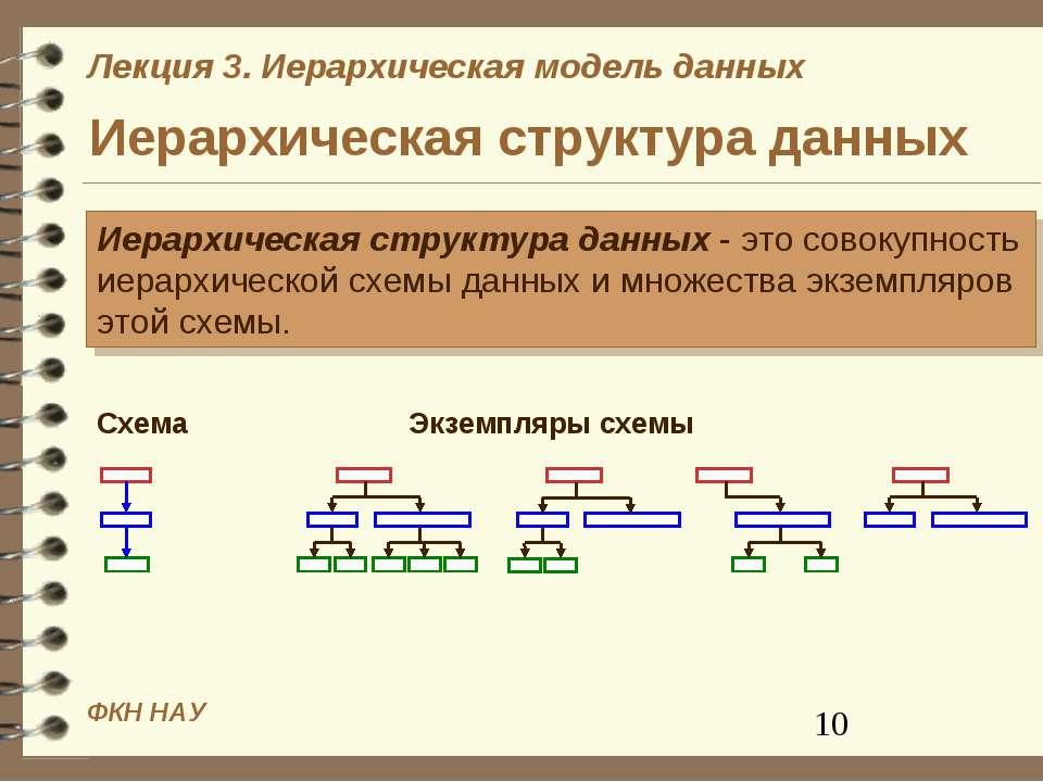 Иерархическая структура данных Иерархическая структура данных - это совокупно...