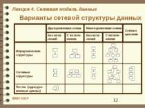 Варианты сетевой структуры данных
