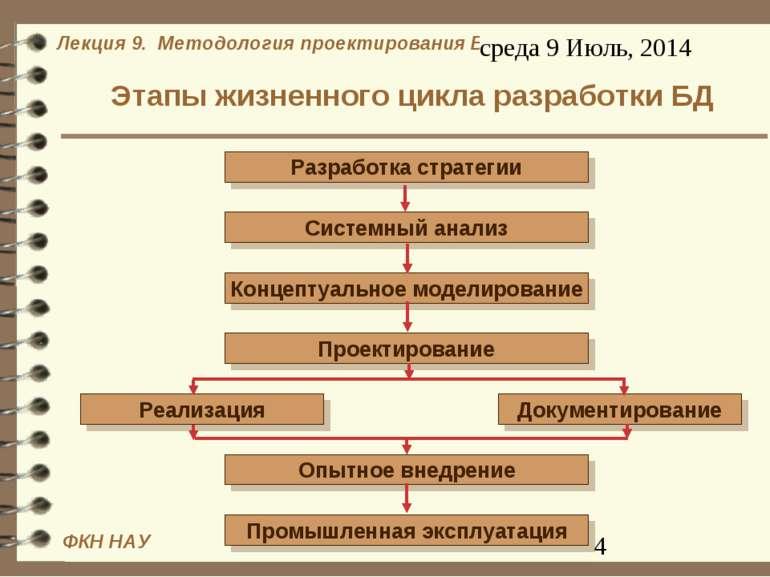 Этапы жизненного цикла разработки БД