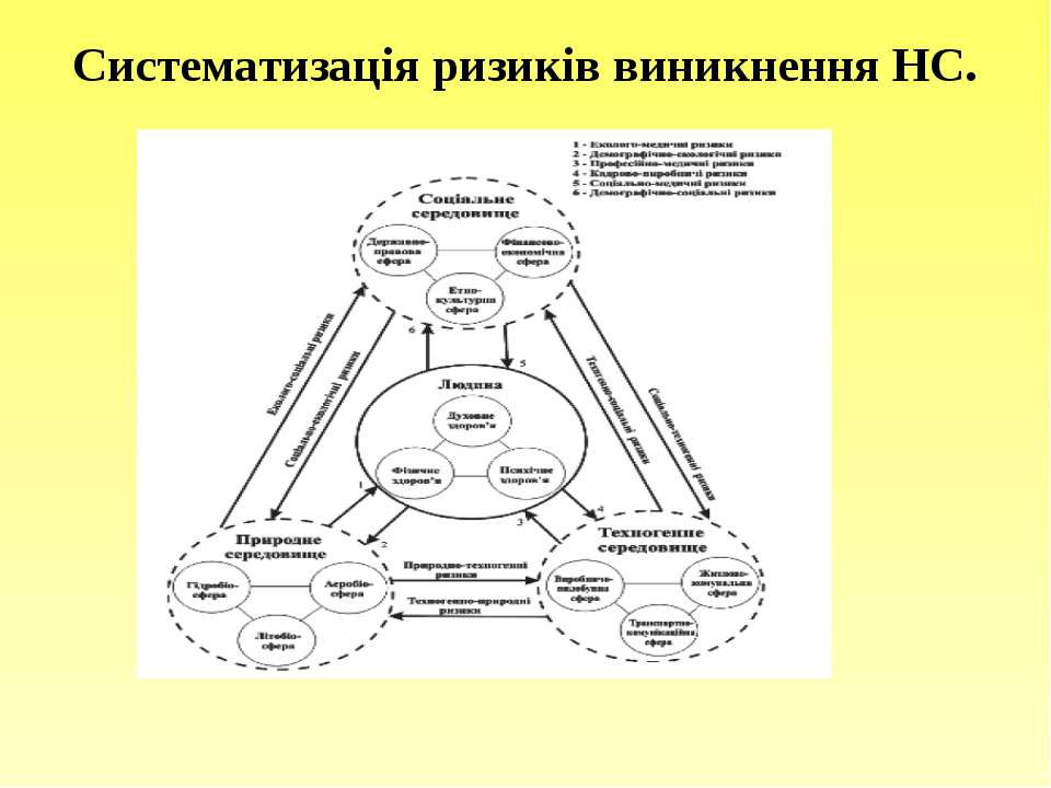 Систематизація ризиків виникнення НС.