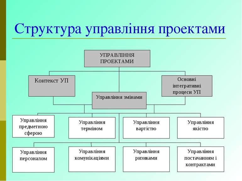 Структура управління проектами
