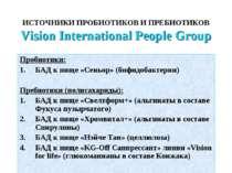 ИСТОЧНИКИ ПРОБИОТИКОВ И ПРЕБИОТИКОВ Vision International People Group Пробиот...