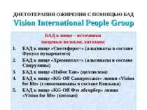 ДИЕТОТЕРАПИЯ ОЖИРЕНИЯ С ПОМОЩЬЮ БАД Vision International People Group БАД к п...