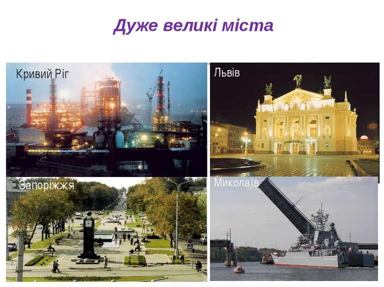 Львів Миколаїв Миколаїв Дуже великі міста Кривий Ріг Запоріжжя