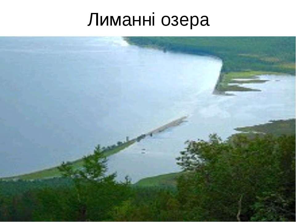 Лиманні озера