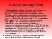 Сільське господарство В Європейському регіоні Польща посідає помітне місце за...