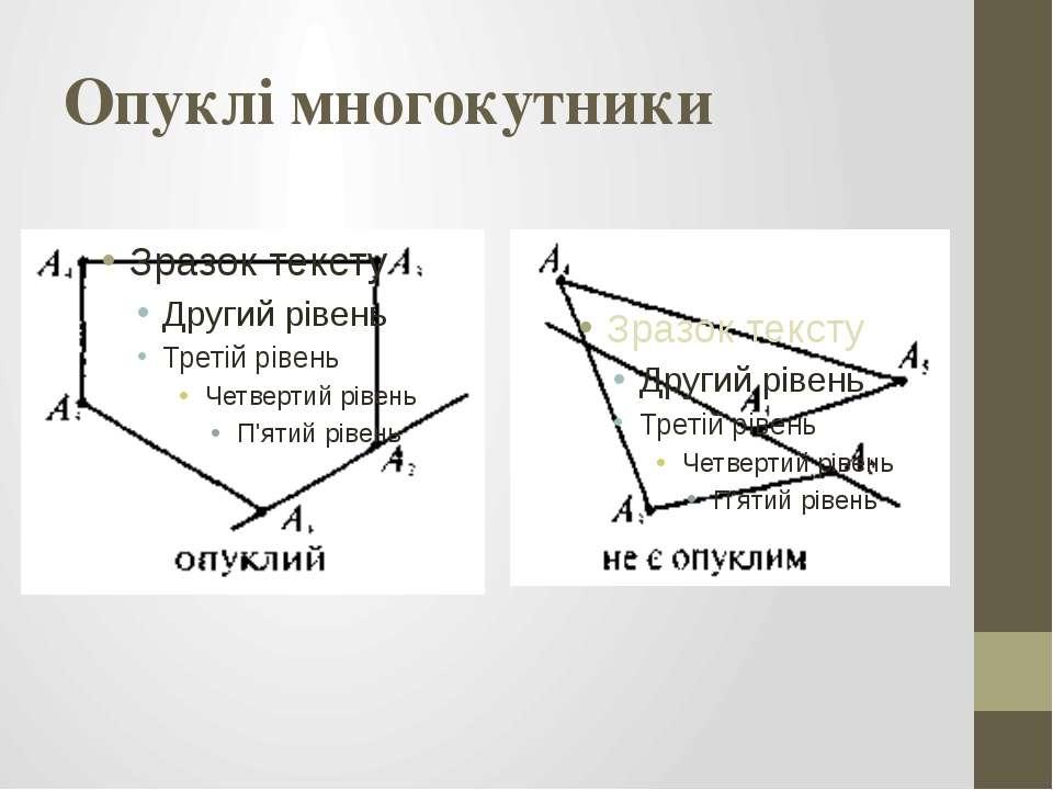 Опуклі многокутники