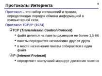 * Протоколы Интернета Протокол – это набор соглашений и правил, определяющих ...