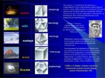 вогонь тетраєдр ікосаедр  октаєдр  гексаєдр Всесвіт додекаєдр вода земля по...