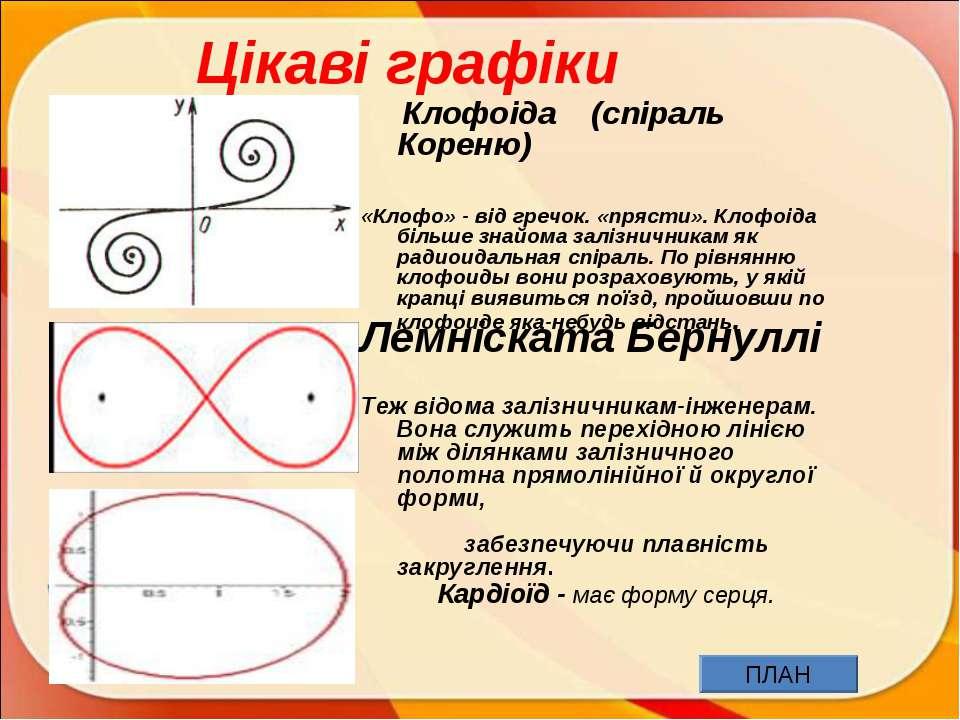 Цікаві графіки Клофоіда (спіраль Кореню) «Клофо» - від гречок. «прясти». Клоф...