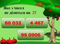 Яке з чисел  не ділиться на 2?