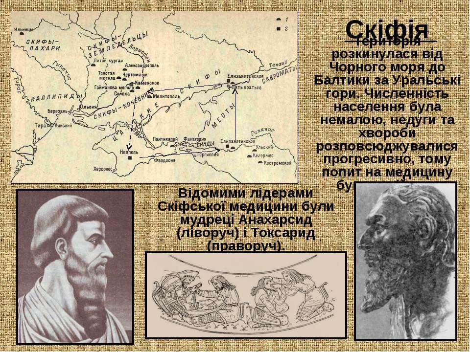 Скіфія Територія розкинулася від Чорного моря до Балтики за Уральські гори. Ч...