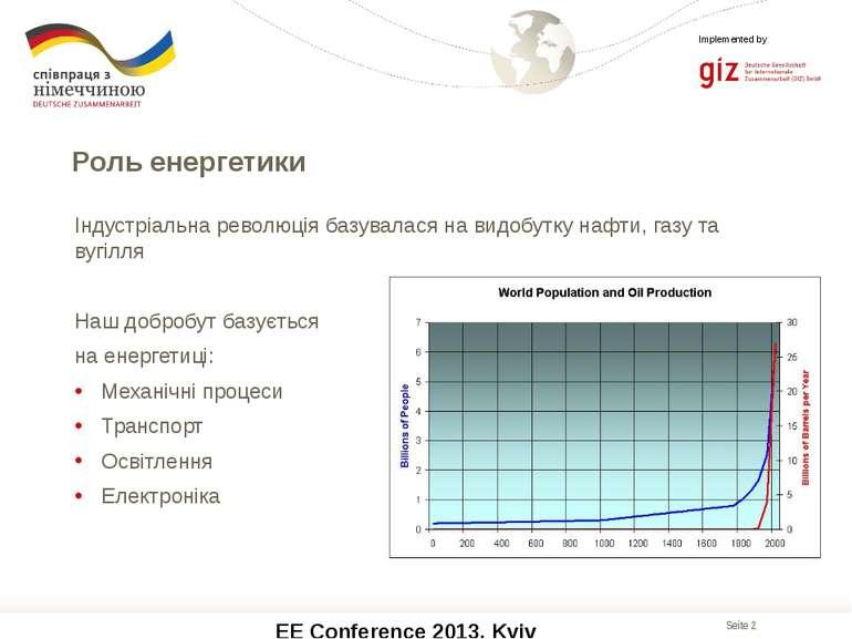 EE Conference 2013, Kyiv Індустріальна революція базувалася на видобутку нафт...