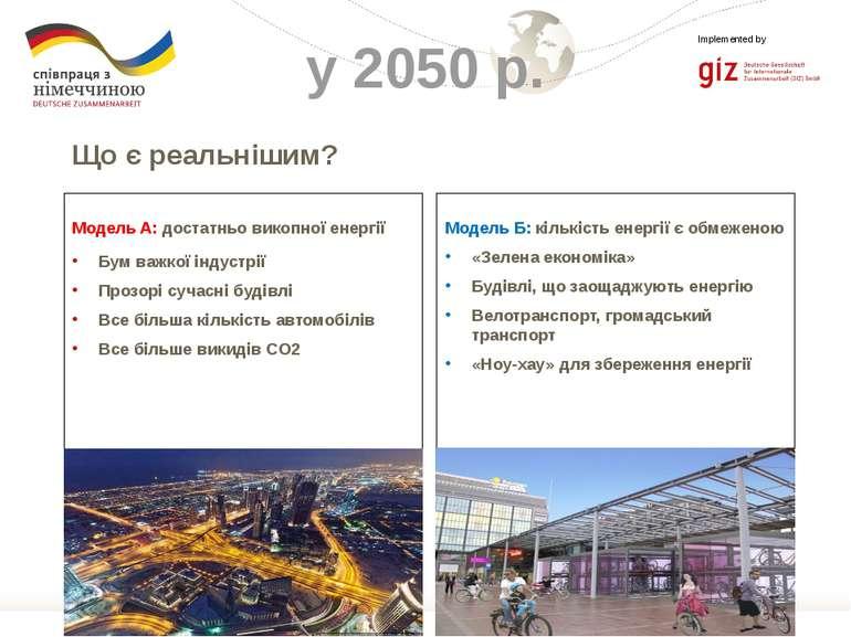 Модель Б: кількість енергії є обмеженою «Зелена економіка» Будівлі, що заощад...