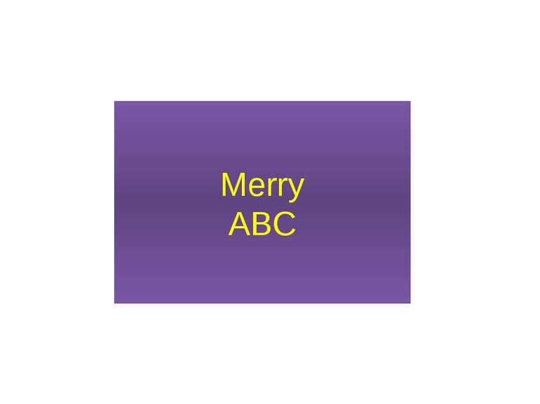 Merry ABC