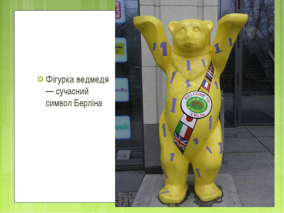 Фігурка ведмедя — сучасний символ Берліна